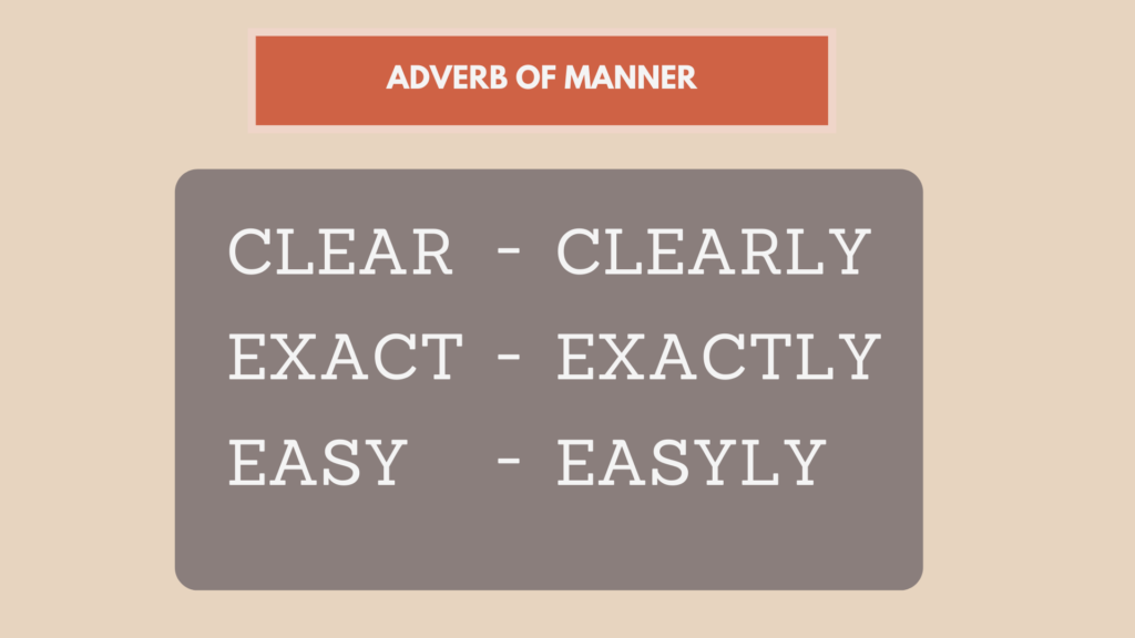 contoh adverb of manner